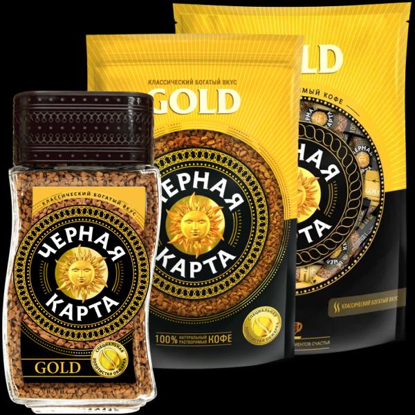 Кофе Чёрная карта Gold растворимый