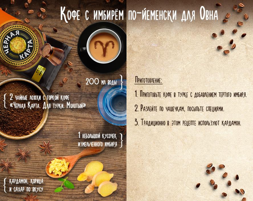 кофе для овна